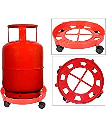 SHUBH LABH CREATION Gas Cylinder Trolley With Wheels|Gas Trolly|Lpg Cylinder Stand