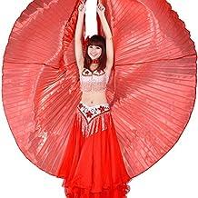 Calcifer® NEUF égyptien égyptienne Belly Dance Ailes d'Isis Costume d'ailes Cadeau pour Big fête de Noël (Rouge)