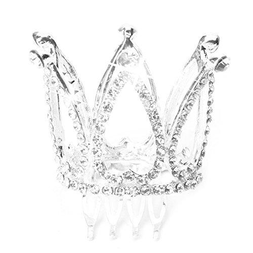ame Mädchen Strass Krone Braut Tiara Haar Kamm Pin Hochzeit ()