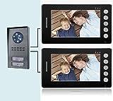 'Interphone vidéo 7(2moniteur + 1caméra 2touches) bi-famille couleurs (529)