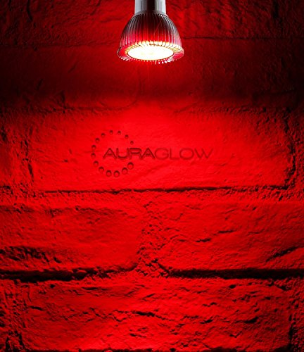 Auraglow Farbige LED GU10 Deckenfluter Spotlight-Glühlampe, ROT