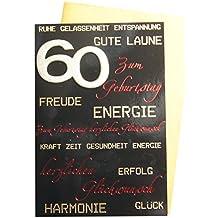 60. Geburtstag Glückwunschkarte Geburtstagskarte Mit Zahl