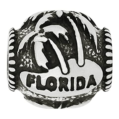 Zable Sterling Silver Florida Palm Trees Bead