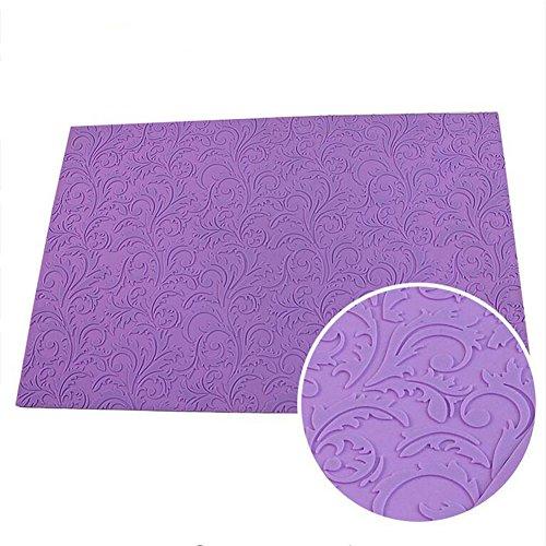 Große Blatt Muster Silikon Fondant Cake Lace Matte Floral Impressum strukturiert geprägt Form Sugarcraft Kuchen dekorieren Schimmel, Kuchen dekorieren Werkzeuge Zucker Spitzen-Pad Backen Werkzeug