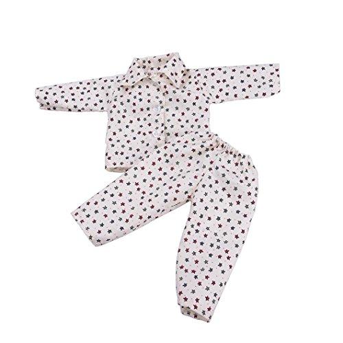 Hirolan Niedlich Pyjama Nachthemd Kleider zum 18 Zoll Unser Generation amerikanisch Mädchen Puppe Sommer Badeanzug Baden Kleider Princess Kleidung Abendkleid American Girl Puppe (I) (18-zoll-puppe-handy)