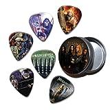 Megadeth Set of 6 Loose Guitar Médiators in Tin ( Collection C )