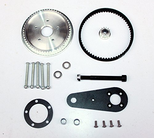 L-faster Town 7XL Electric Scooter Conversion Kit Customized Belt Drive For PU Wheel DIY High Speed Electric Kickscooter Motor (kit without motor)