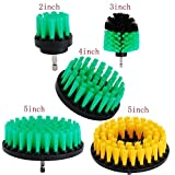 OxoxO 5er Drill Brush - 2 '3' 4 '5' Medium Steifheit Borsten Attachment Scrubber Cleaning Kit für Küche Badezimmer Oberflächen Fliesen Duschen Fliesen Teppichboden