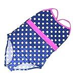 Mädchen-Badeanzug, für 7 - 13 Jahre Gr. 146 cm 9-10 Jahre, Blue White Pink