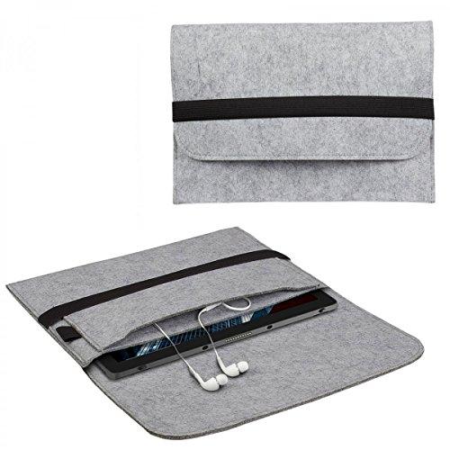 eFabrik Schutztasche für Dell Latitude 5285/7285 Tasche aus Filz (für 12,3 Zoll ohne Tastatur) Sleeve Case Soft Cover Filztasche Schutzhülle Filz, Farbe:Grau