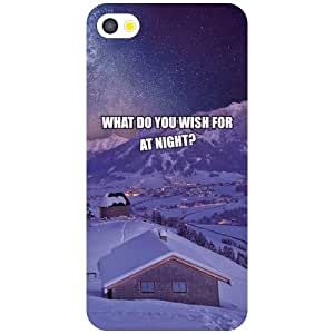 Apple iPhone 4S Phone Cover - Wish at Night Matte Finish Phone Cover
