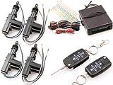JOM 7104-2 Sistema de Cierre Centralizado Universal, 4 Puertas, con 2 Llaves Plegables y Radio, 4 Servomotores