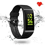 Fitness Tracker, LTPAG Cardiofrequenzimetro da Polso Schermo a Colori Smart Watch - Activity Tracker Fitness Braccialetto Orologio Smartwatch per iPhone Huawei Android iOS Smartphone