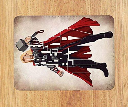 Marvel DC Thor inspiriert PU Faux Leder Mauspad, PC Maus Pad (Inspiriert Leder Faux)