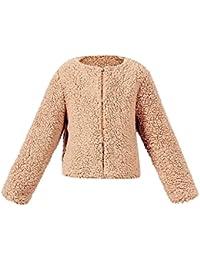 Hawkimin Baby Mädchen Herbst-Winter Imitat-Kaschmir Mantel-Jacke Starke warme Outwear-Kleidung