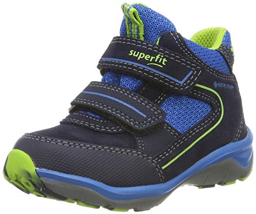 Superfit Jungen Sport5 Gore-Tex Hohe Sneaker, Blau (Blau/Grün 80), 34 EU