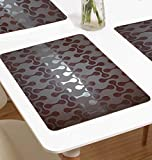 #8: The Purple Tree Stylish PVC Table Mats - Pack of 6 (13 x 19 inches), Waterproof Place Mats Multi Purpose Mats, 6 Seater Dining Table mats, Refrigerator Mats,