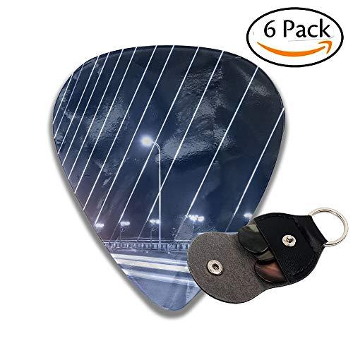 Light Trails In Bridge Deck Stylish Celluloid Guitar Picks Plectrums For Guitar Bass 6 Pack.46mm