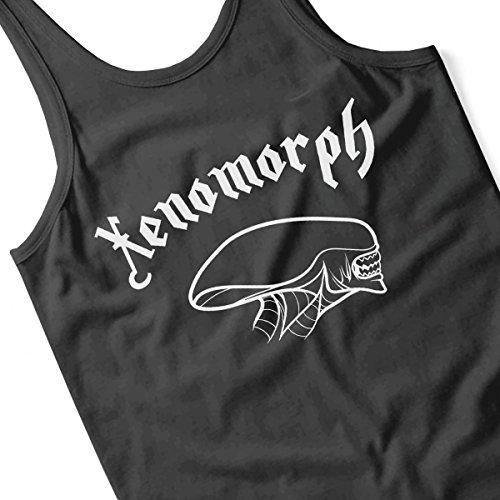Xenomorph Outline Side Profile Alien Women's Vest Black