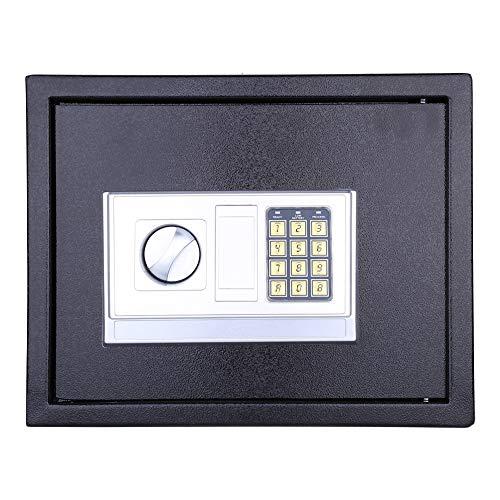 Zoternen 20L Caja Fuerte Digital Pequeña,para Oficina o Uso doméstico,para Montaje en Pared o Suelo,Color...