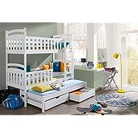 Etagenbett Stockbett Hochbett Doppelbett Viki 90x190 Kinderbett wohnideebilder preisvergleich bei kinderzimmerdekopreise.eu