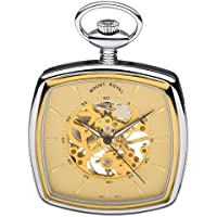Mount Royal Chrome/gold Plated Two Tone Mechanical Open Face Pocket Watch B43