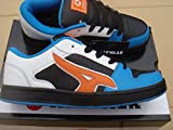 New Mens/Gents Chaussures homme Baskets mode White Airwalk Lace Up Fashion Skate Shoes/Trainers. - White/Black/Blue/Orange - UK 7-12 (UK11 EU45)