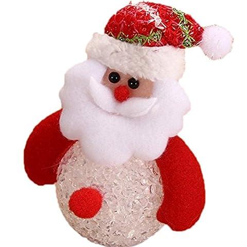 DaoRier Weihnachten LED-Leuchten Bär / Sankt / Hirsch / Schneemann Ornamente für Aktivitäten Dekoration/ Raum Dekoration / Laden Dekoration / Bar Dekoration / Straße Dekoration ,1 (Weihnachten Sankt Bären)