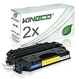 2 Kineco Toner Kompatibel zu HP CE505A Laserjet P 2030 2050 Series 2033 2034 2035 2036 2037 N 2055 DTN 2053 2054 2056 2057 D DN X - 05A - Schwarz je 2.300 Seiten