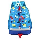 Bescita New Hot Sale Baby Boys Girls Kids Dinosaur Pattern Animals Backpack Toddler School Bag (Blue)