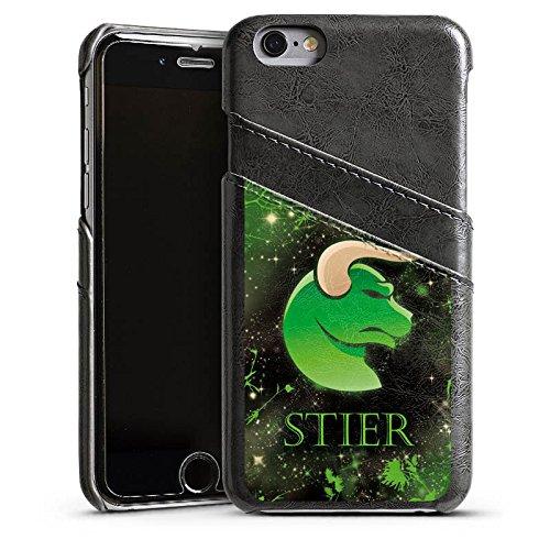 Apple iPhone 5s Housse Étui Protection Coque Signes du zodiaque Taureau Astrologie Étui en cuir gris