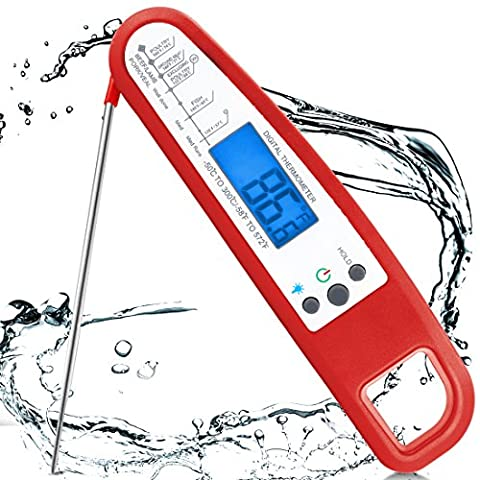 Kochen Thermometer USCVIS Digital Wireless Electric Rauch Fleisch Thermometer Probe Accurate Instant Food Thermometer für Sugar Jam Wasser Grill Bier Foldable bbq Thermometer