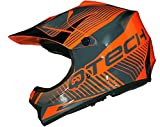 CASQUE de MOTO pour ENFANT Motocross cross off-road NOIR MAT ATV Quad - Orange - M