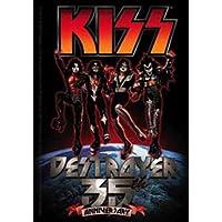 """The KISS BACIO Destroyer distruttore 35th Anniversary anniversario Mini Sticker Set Officially Licensed Classic Rock Mini Set 4.75"""" x 3.5"""" - Long Lasting STICKER ADESIVO DECAL"""