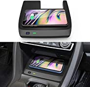 CarQiWireless Wireless Charger for Civic with Fast Charging Charger, 3 Coils Phone Wireless Charging Pad Mat f