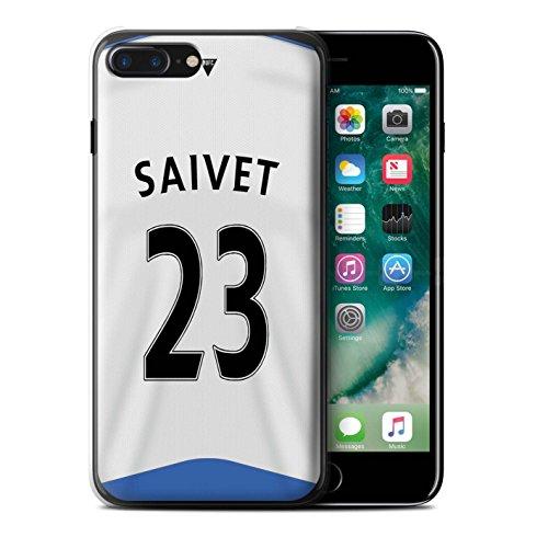 Officiel Newcastle United FC Coque / Etui pour Apple iPhone 7 Plus / Rivière Design / NUFC Maillot Domicile 15/16 Collection Saivet