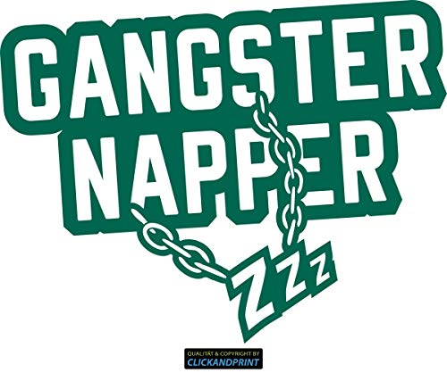 eber » Gangster Napper, 70x53,9cm, Türkisgrün • Dekoaufkleber/Autoaufkleber / Sticker/Decal / Vinyl ()