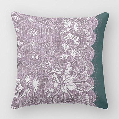 Torheiten Sofa Überwurf Kissen Vintage Lavendel Spitze dekorativer Überwurf-Kissenbezug, baumwolle, farbe, 50,8 x 50,8 cm