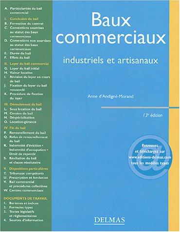 Baux commerciaux, industriels et artisanaux par d' Andigné-Morand
