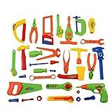 VUKUB 32 Stück Repair Tools Set Elektrowerkzeuge Kinder Spielzeug Handwerker Simulation Spielzeug