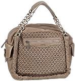 JETTE HEARTBEAT 03/21/01669 - Bolso con asas de cuero para mujer, color gris, talla 27x26x17 cm
