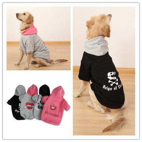 XUJW-PET, Haustier-Hundehoodie kleidet warme weiche Strickjacke-Kostüme für mittleres oder großes Haustier ( Color : Gray , Size : 50 )