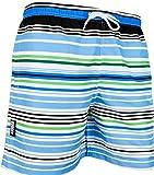 GUGGEN MOUNTAIN Herren Badeshorts Beachshorts Boardshorts Badehose gestreift *High Quality Print* Farbe Gestreift XXXL