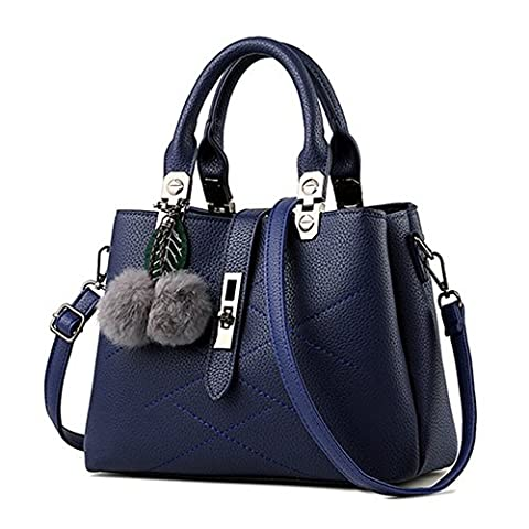 C.CHUANG Hardware Accessories Pendant Simple And Elegant Temperament Handbag(Blue£©