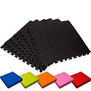 #DoYourFitness Schutzmatten Set 6X Puzzle Unterlegmatten Bodenschutz für Gymnastikräume – Matten Schutz vor Kratzern Stößen Dellen Kälte Lärm – 6X Steckelemente á 60 x 60 x 1,2 cm (ca. 2,2m²)