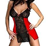 Kanpola Ladies Sleepwear Underwear, Womens Bowknot Hot Sexy Clubwear Dress Nightdress Lingerie
