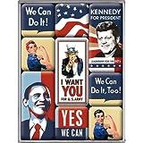 Nostalgic-Art 83039 USA United States of America, Magnet-Set, 9-teilig