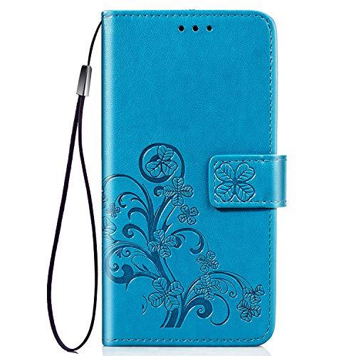 TANYO Funda Adecuado para Xiaomi Redmi Go, Patrón de Moda Hermosa Funda Billetera, Azul