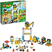 LEGO DUPLO Town Tower Crane & Construction 10933 building set, Preschool Toy for Toddlers 2+ years old (12