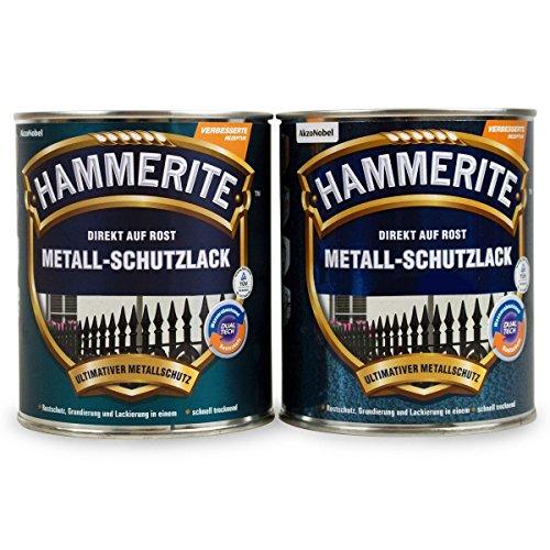 Hammerite Metallschutzlack 1l / 4x 250ml / Viele Farbtöne zur Auswahl (gold - glänzend)